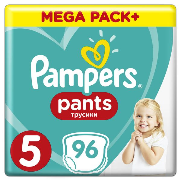 Трусики Pampers Pants 5 (12-17кг), 96 шт